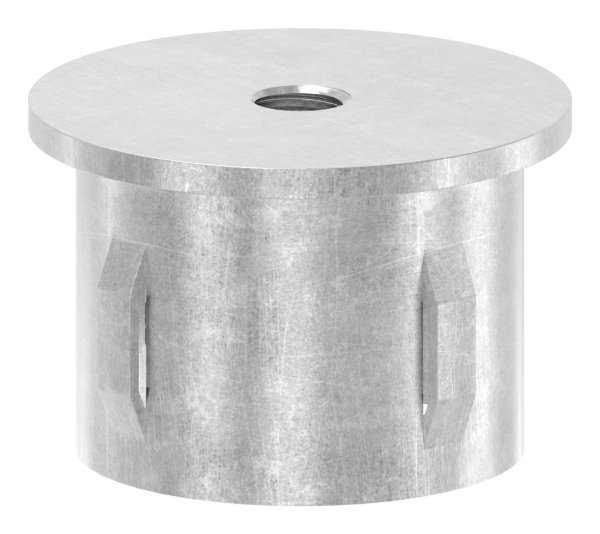 Stahlstopfen flach | mit M8 | für Rundrohr Ø 42,4x2,5-2,9 mm | Stahl S235JR, roh