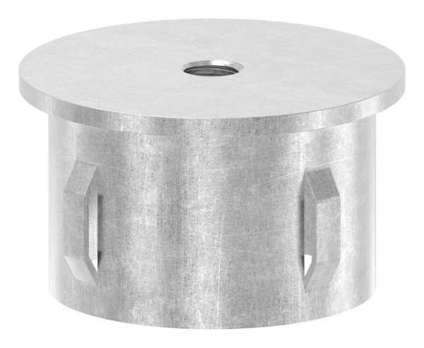 Stahlstopfen flach | mit M8 | für Rundrohr Ø 48,3x1,8-2,2 mm | Stahl S235JR, roh