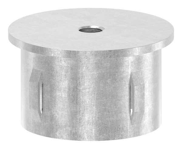 Stahlstopfen flach   mit M8   für Rundrohr Ø 48,3x2,5-2,9 mm   Stahl S235JR, roh