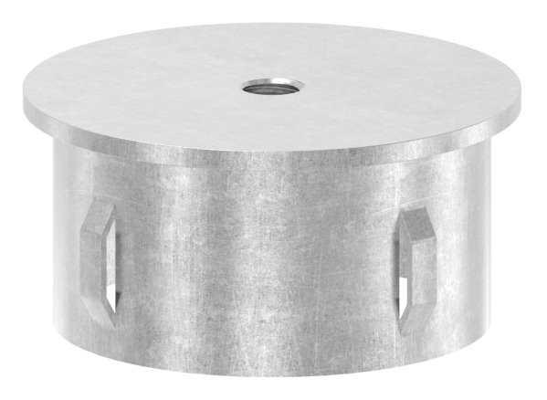 Stahlstopfen flach | mit M8 | für Rundrohr Ø 60,3x1,8-2,2 mm | Stahl S235JR, roh
