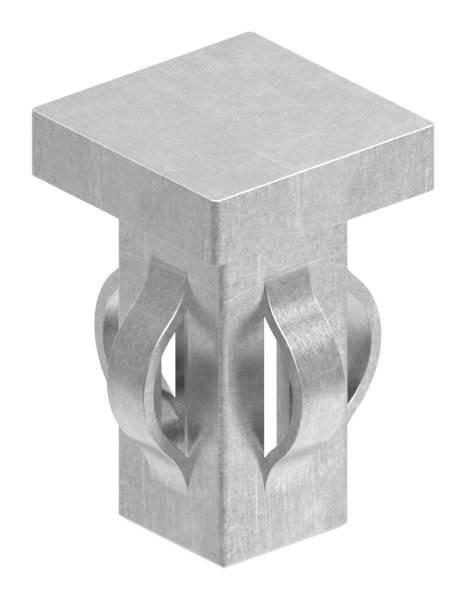 Stahlstopfen flach | für Rohr 20x20x1,5-2,0 mm | Stahl S235JR, roh