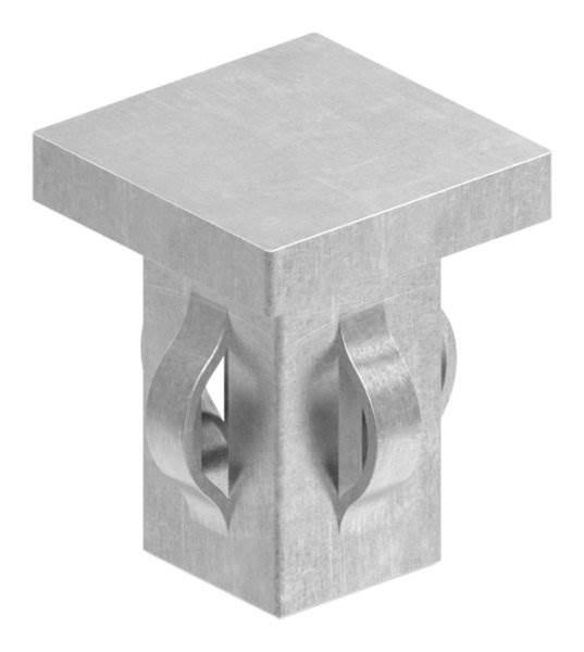 Stahlstopfen flach | für Rohr 25x25x1,5-2,0 mm | Stahl S235JR, roh