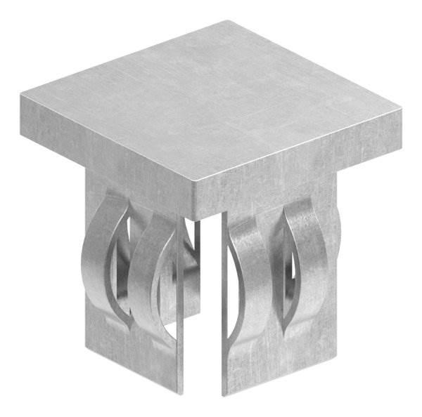 Stahlstopfen flach | für Rohr 30x30x1,5-3,0 mm | Stahl S235JR, roh