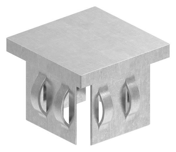 Stahlstopfen flach | für Rohr 40x40x2,0-3,0 mm | Stahl S235JR, roh