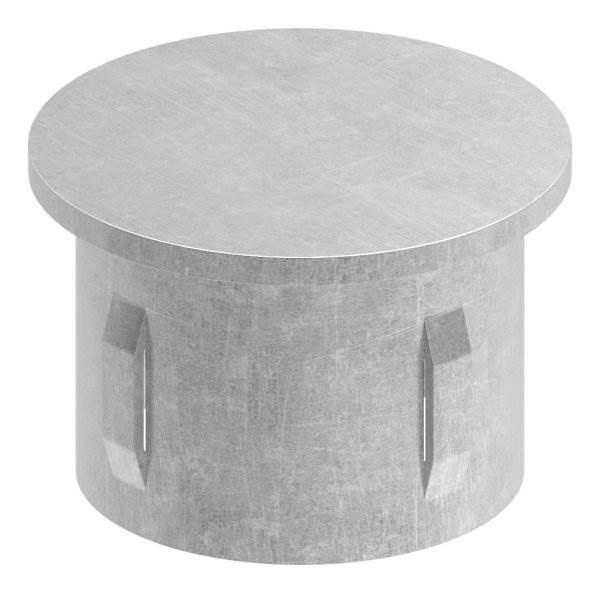 Stahlstopfen | flach | für Rohr Ø 42,4 x 3,0-3,5 mm | Stahl (Roh) S235JR