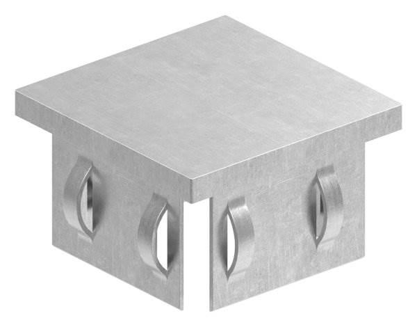 Stahlstopfen flach | für Rohr 50x50x2,0-3,0 mm | Stahl S235JR, roh