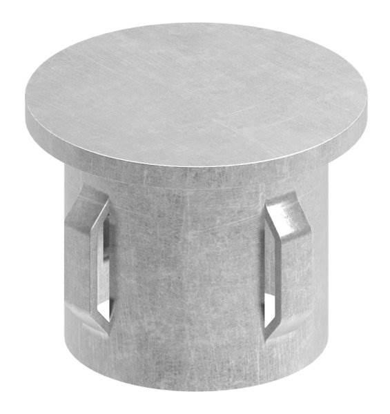 Stahlstopfen flach | für Rundrohr Ø 33,7x1,8-2,2 mm | Stahl S235JR, roh