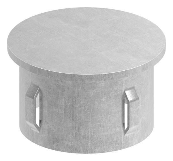 Stahlstopfen flach | für Rundrohr Ø 48,3x1,8-2,2 mm | Stahl S235JR, roh