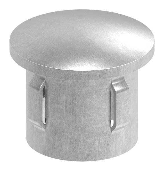 Stahlstopfen | leicht gewölbt | für Ø 33,7x2,5-2,9 mm | Stah S235JR, roh