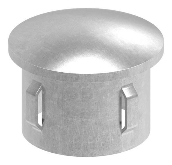 Stahlstopfen | leicht gewölbt | für Ø 42,4x1,8-2,2 mm | Stah S235JR, roh