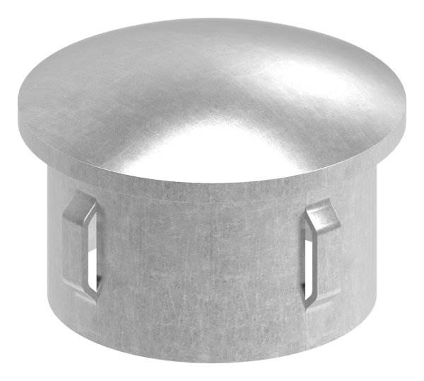 Stahlstopfen | leicht gewölbt | für Ø 48,3x1,8-2,2 mm | Stah S235JR, roh