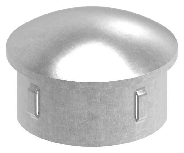 Stahlstopfen | leicht gewölbt | für Ø 60,3x2,5-2,9 mm | Stah S235JR, roh