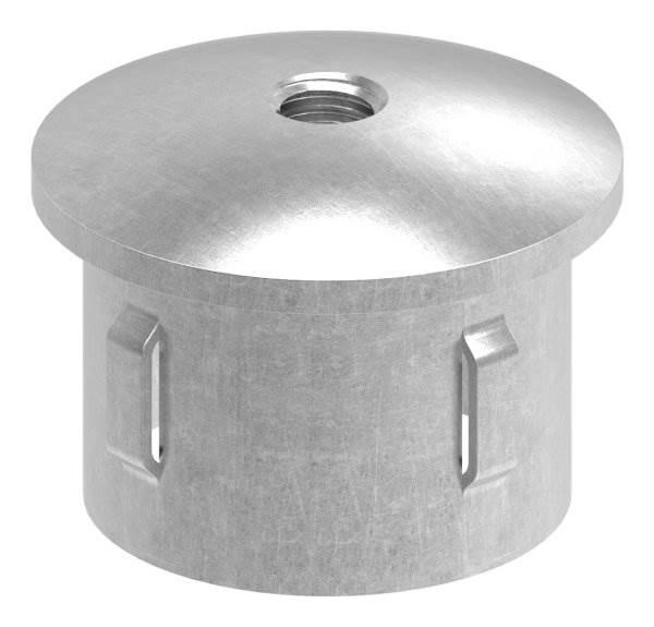 Stahlstopfen | leicht gewölbt | mit M8 | für Rundrohr Ø 42,4x2,5-2,9 mm | Stahl S235JR, roh