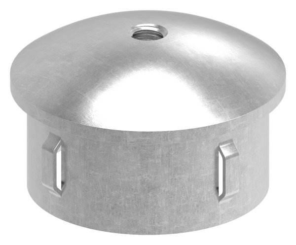 Stahlstopfen | leicht gewölbt | mit M8 | für Rundrohr Ø 60,3x1,8-2,2 mm | Stahl S235JR, roh