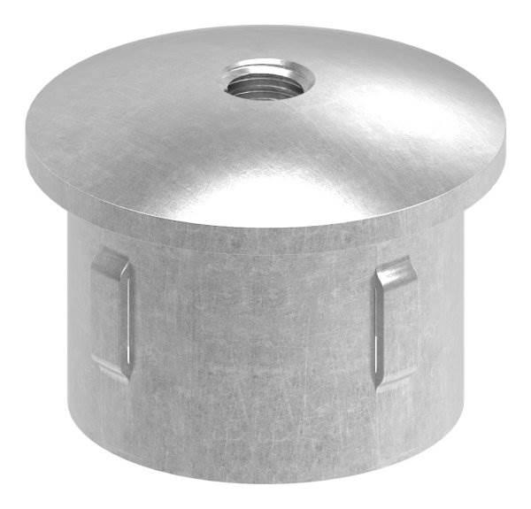 Stahlstopfen | mit M8 | leicht gewölbt | für Rohr Ø 42,4 x 3,0-3,5 mm | Stahl (Roh) S235JR