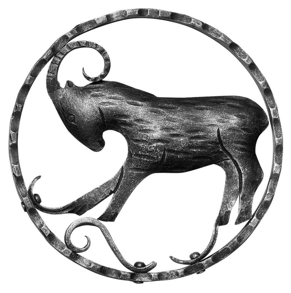Sternzeichen Steinbock | Ø 200x5 mm | Stahl S235JR, roh