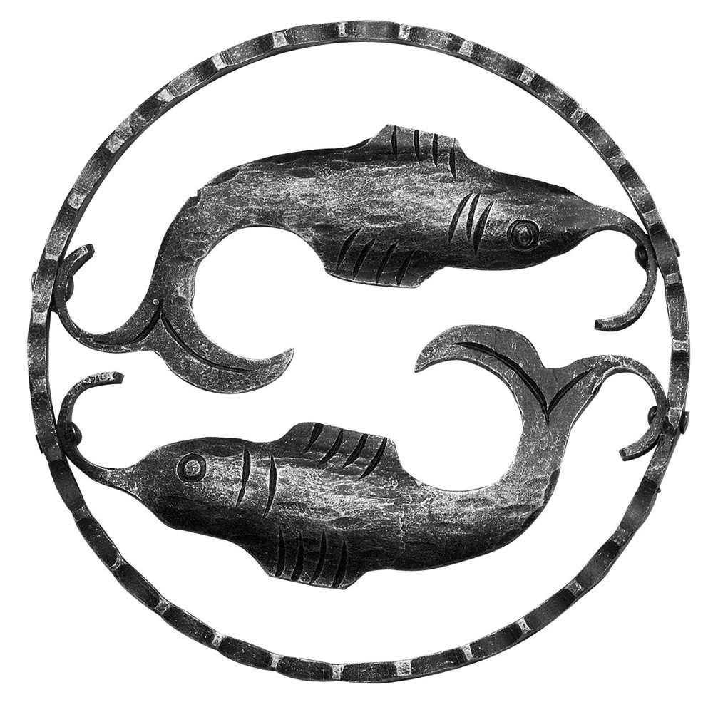 Sternzeichen Fische | Ø 200x5 mm | Stahl S235JR, roh