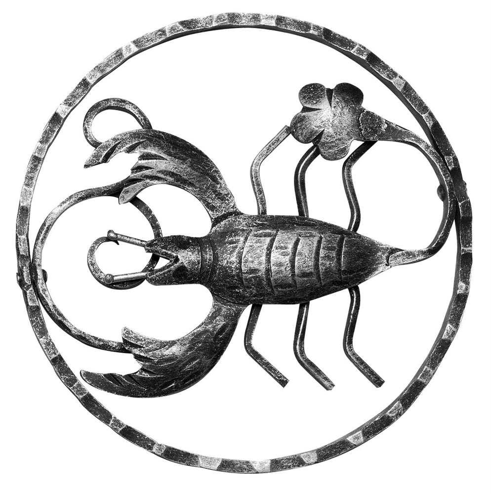 Sternzeichen Krebs | Ø 200x5 mm | Stahl S235JR, roh