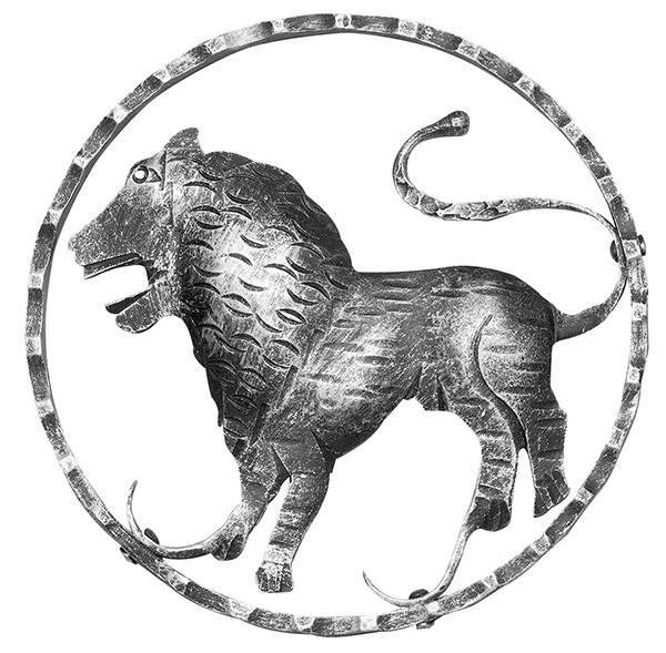 Sternzeichen Löwe | Ø 200x5 mm | Stahl S235JR, roh