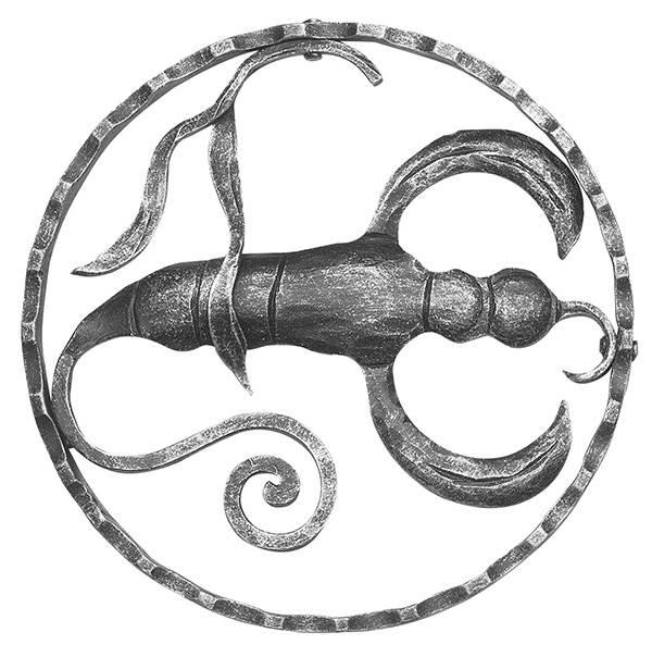 Sternzeichen Skorpion | Ø 200x5 mm | Stahl S235JR, roh