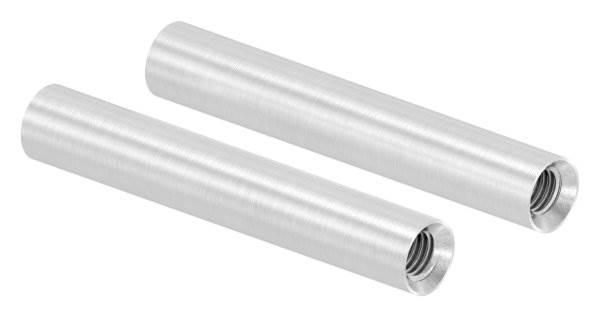Stift | Maße: 75x12 mm | mit 2 Innengewinde: M8x15 mm | V2A