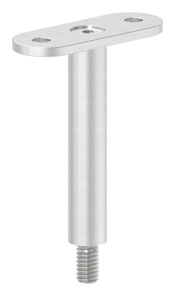 Stift mit Halteplatte | Anschluss: flach | V2A