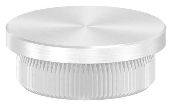 Stopfen flach für Ø 26,9x2,0 mm V2A Vollmaterial