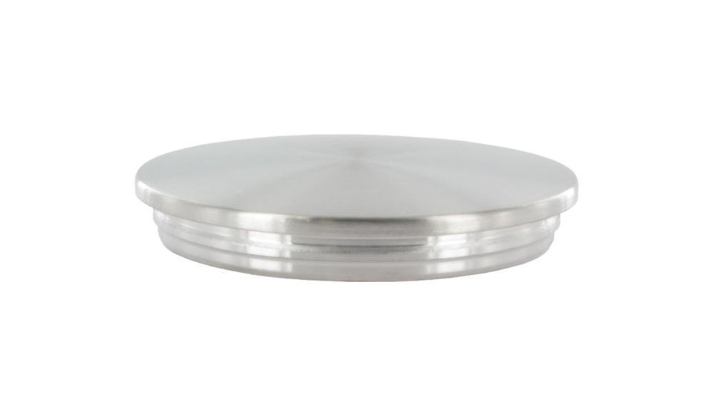 Stopfen flach für Ø 33,7x2,0 mm - dünne Ausführung verjüngt V2A Vollmaterial