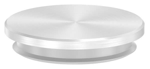 Stopfen flach für Ø 33,7x2,0 mm - mit Nase V2A Vollmaterial