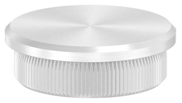 Stopfen flach für Ø 33,7x2,0 mm V2A Vollmaterial
