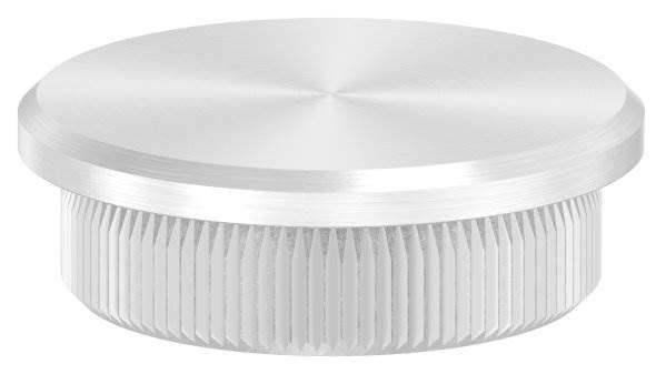 Stopfen flach für Ø 33,7x2,6 mm V2A Vollmaterial