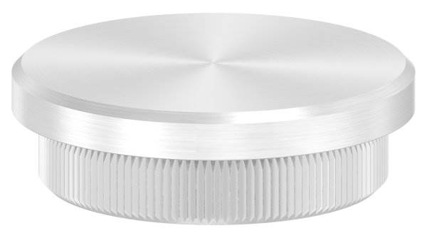 Stopfen flach für Ø 42,4x3,0 mm V2A Vollmaterial