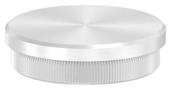 Stopfen flach für Ø 48,3x2,0 mm V2A Vollmaterial