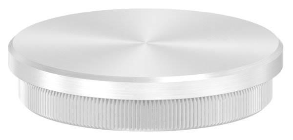 Stopfen flach für Ø 60,3x2,6 mm V2A Vollmaterial