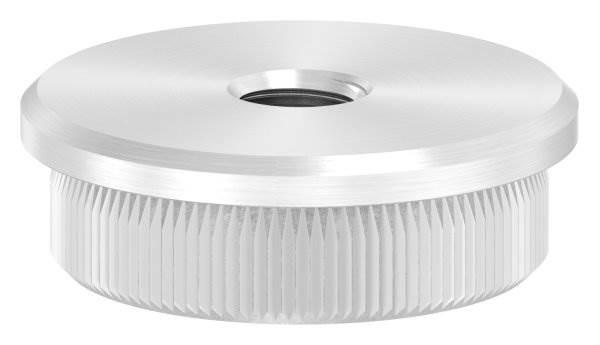 Stopfen flach mit M8 für Ø 33,7x2,6 mm V2A Vollmaterial