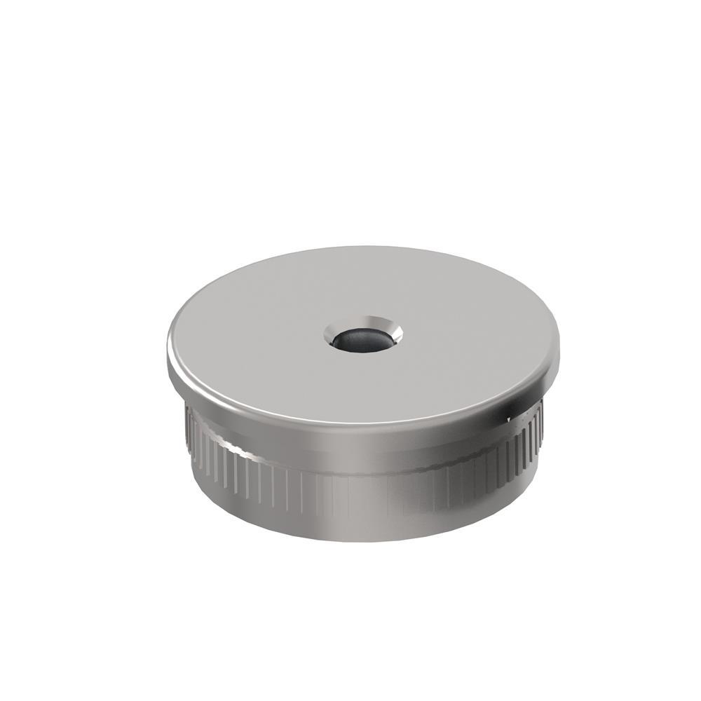 Stopfen flach mit M8 für Ø 42,4x2,0 mm V2A gegossen