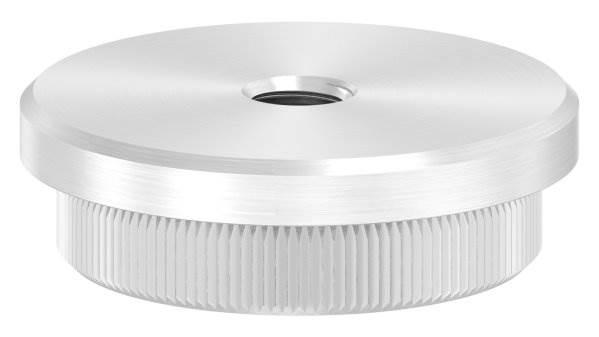 Stopfen flach mit M8 für Ø 42,4x3,0 mm V2A Vollmaterial