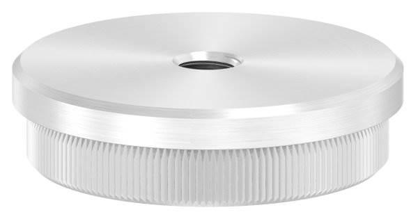 Stopfen flach mit M8 für Ø 48,3x2,0 mm V2A Vollmaterial