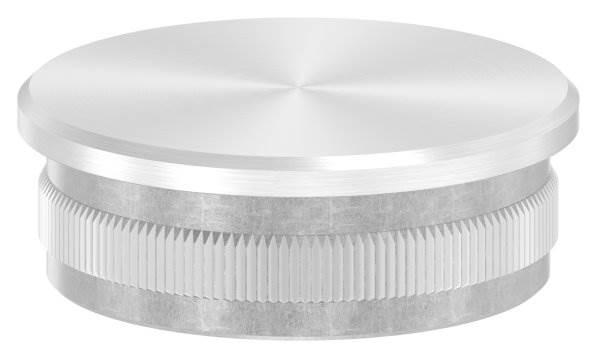 Stopfen flach V2A gegossen für Ø 48,3x2,0 mm