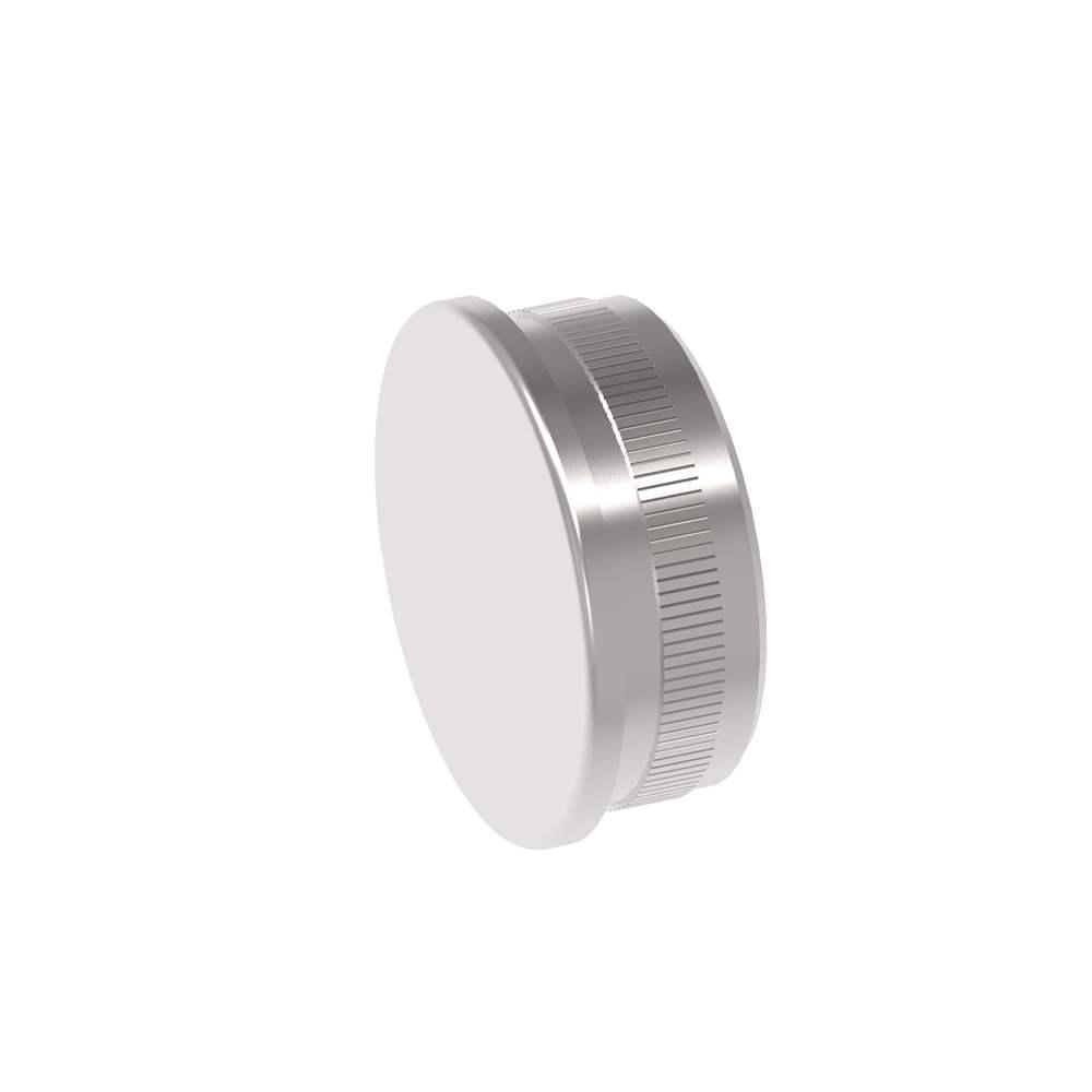Stopfen flach V2A gegossen für Ø 42,4x2,0 mm