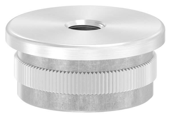 Stopfen flach V2A gegossen mit M8 für Ø 33,7x2,0 mm