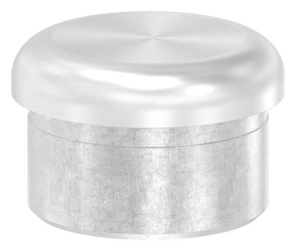 Stopfen flach V2A gegossen zum Einkleben für Ø 33,7x2,0 mm