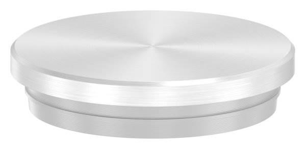 Stopfen flach V2A Vollmaterial für Ø 33,7x2,0 mm - dünne Ausführung verjüngt