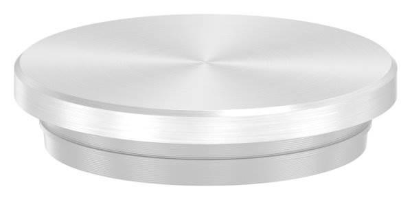 Stopfen flach V2A Vollmaterial für Ø 33,7x2,6 mm - dünne Ausführung verjüngt