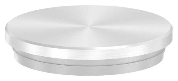 Stopfen flach V2A Vollmaterial für Ø 40,0x2,0 mm - dünne Ausführung verjüngt