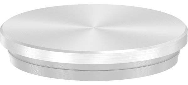 Stopfen flach V2A Vollmaterial für Ø 42,4x2,0 mm - dünne Ausführung verjüngt