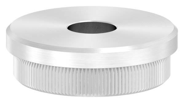 Stopfen flach V2A Vollmaterial für Ø 42,4x2,0 mm mit Bohrung 12,1 mm