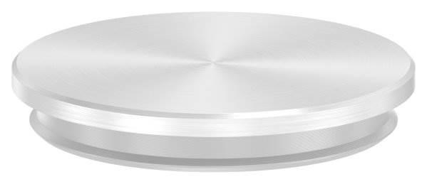 Stopfen flach V2A Vollmaterial für Ø 42,4x2,0 mm - mit Nase