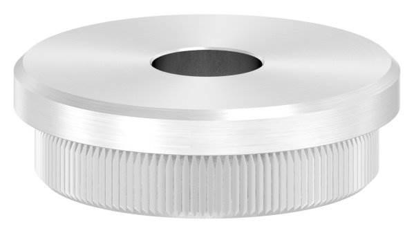 Stopfen flach V2A Vollmaterial für Ø 42,4x2,6 mm mit Bohrung 12,1 mm
