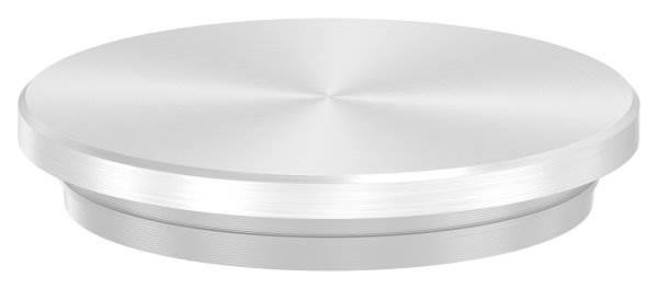 Stopfen flach V2A Vollmaterial für Ø 42,4x3,0 mm - dünne Ausführung verjüngt